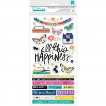 American Crafts Vicki Boutin Color Study All This Happiness Chipboard Thickers 34007083