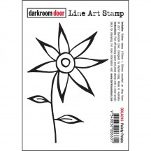 Darkroom Door Rubber Pointy Petals Line Art Stamp - DDLA010