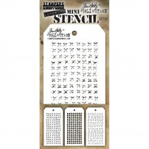 Tim Holtz Mini Layering Stencil Mask Set - Set 33 THMST033