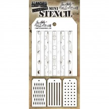 Tim Holtz Mini Layering Stencil Mask Set - Set 36 THMST036
