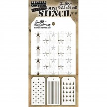 Tim Holtz Mini Layering Stencil Mask Set - Set 37 THMST037