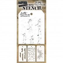 Tim Holtz Mini Layering Stencil Mask Set - Set 38 THMST038