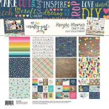 "Simple Stories Crafty Girl 12""x12"" Collection Kit 10000"