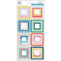 Pinkfresh Studio Everyday Musings Chipboard Frame Stickers RC100719