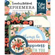 Echo Park Traveler's Notebook Fancy Flora Ephemera Die Cut Cardstock Pieces TNF1008