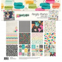 "Simple Stories Good Vibes 12""x12"" Collection Kit 10080"