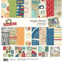 "Simple Stories Travel Notes 12""x12"" Collection Kit 10093"