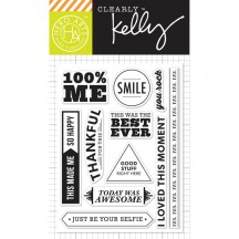 "Hero Arts Clearly Kelly 100% Me 3""x4"" Clear Stamp Set CL852"