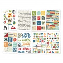 Simple Stories Travel Notes Stickers 10110