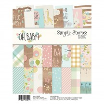 "Simple Stories Oh, Baby! 6""x8"" Double-Sided Paper Pad 10129"