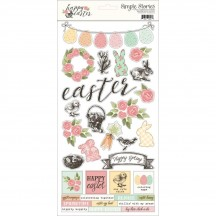 """Simple Stories Simple Sets Happy Easter 6""""x12"""" Fundamentals Element Cardstock Stickers 10158"""