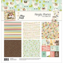 """Simple Stories Mama Llama 12""""x12"""" Simple Sets Collection Kit 10162"""