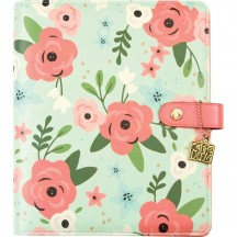 Simple Stories Carpe Diem A5 Faux Leather Planner Mint Blossom Binder Only 10178
