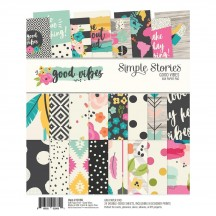 """Simple Stories Good Vibes 6""""x8"""" Double-Sided Paper Pad 10196"""