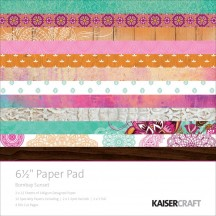 "Kaisercraft Bombay Sunset 6.5""x6.5"" Specialty Paper Pad PP1020 40 Sheets"
