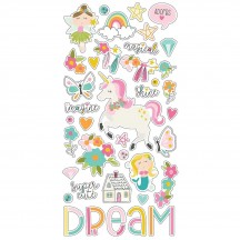 Simple Stories Dream Big Self Adhesive Chipboard Shape Stickers 10220