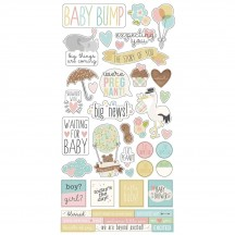 """Simple Stories Simple Sets Oh Baby Expecting 6""""x12"""" Fundamentals Element Cardstock Stickers 10248"""