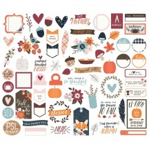 Simple Stories Forever Fall Bits & Pieces Die-Cut Cardstock Ephemera Pieces 10282
