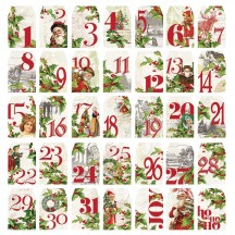 Simple Stories Simple Vintage Christmas Number Tags Die-Cut Cardstock Pieces 10351