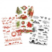Simple Stories Simple Vintage Christmas Clear Stickers 10353