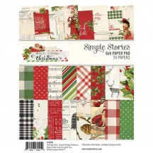 "Simple Stories Simple Vintage Christmas 6""x8"" Double-Sided Paper Pad 10356"