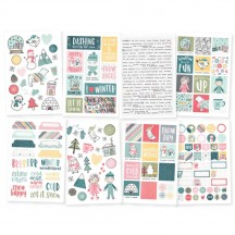 Simple Stories Freezin' Season Stickers 10374