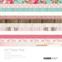 """Kaisercraft Miss Betty 6.5""""x6.5"""" Specialty Paper Pad PP1038 40 Sheets"""