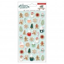 Crate Paper Busy Sidewalks Christmas Puffy Icon Stickers 34010600