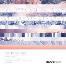 "Kaisercraft Misty Mountains 6.5""x6.5"" Specialty Paper Pad PP1040 40 Sheets"