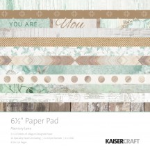 "Kaisercraft Memory Lane 6.5""x6.5"" Specialty Paper Pad PP1043 40 Sheets"