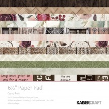 """Kaisercraft Gypsy Rose 6.5""""x6.5"""" Specialty Paper Pad PP1048 40 Sheets"""