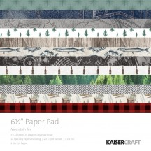 "Kaisercraft Mountain Air 6.5""x6.5"" Specialty Paper Pad PP1049 40 Sheets"