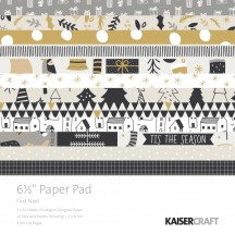 """Kaisercraft First Noel 6.5""""x6.5"""" Specialty Christmas Paper Pad PP1053 40 Sheets"""