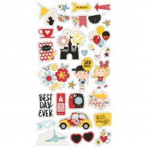 Simple Stories Say Cheese 4 Self Adhesive Chipboard Shape Stickers 10536