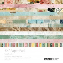 "Kaisercraft Scrap Studio 6.5""x6.5"" Specialty Paper Pad PP1055 40 Sheets"