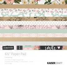"Kaisercraft Everlasting 6.5""x6.5"" Specialty Paper Pad PP1057 40 Sheets"