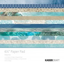 "Kaisercraft Deep Sea 6.5""x6.5"" Specialty Paper Pad PP1058 40 Sheets"