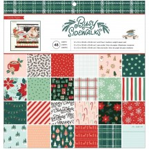 """Crate Paper Busy Sidewalks Christmas 12""""x12"""" Paper Pad 34010592"""