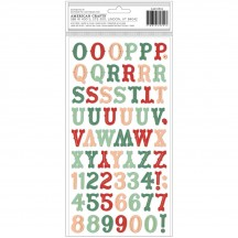 Crate Paper Busy Sidewalks Tinsel Town Christmas Foam & Cardstock Letter Thickers 34010594