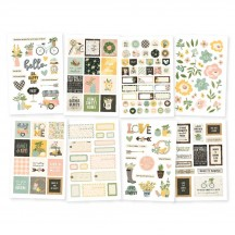 Simple Stories Spring Farmhouse Stickers 10599