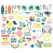 Simple Stories Sunshine and Blue Skies Bits & Pieces Die-Cut Cardstock Embellishments 10622
