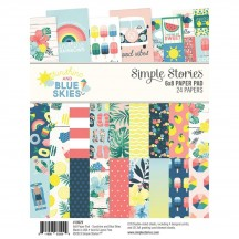 "Simple Stories Sunshine and Blue Skies 6""x8"" Double-Sided Paper Pad 10629"