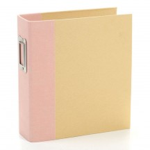 "Simple Stories Snap Binder Blush Pink 6""x8"" Kraft Album & Accessories 10731"