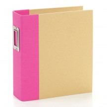 "Simple Stories Snap Binder Pink 6""x8"" Kraft Album & Accessories 10732"
