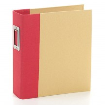 "Simple Stories Snap Binder Red 6""x8"" Kraft Album & Accessories 10733"