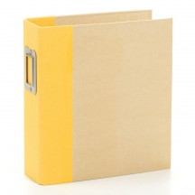 "Simple Stories Snap Binder Yellow 6""x8"" Kraft Album & Accessories 10736"