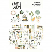 Simple Stories Live Simply A5 Planner Sticker Tablet 107559