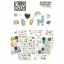 Simple Stories Oh, Happy Day A5 Planner Sticker Tablet 10760