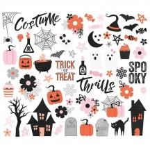 Simple Stories Happy Haunting Halloween Bits & Pieces Die-Cut Cardstock Ephemera 10919