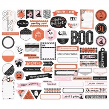 Simple Stories Happy Haunting Journal Bits & Pieces Die-Cut Cardstock Ephemera 10920